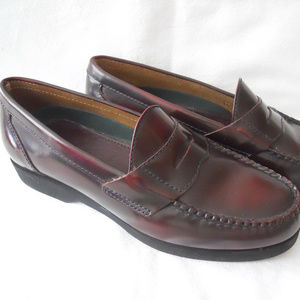 LL Bean Brown Leather Penny Loafers Shoes 6.5N